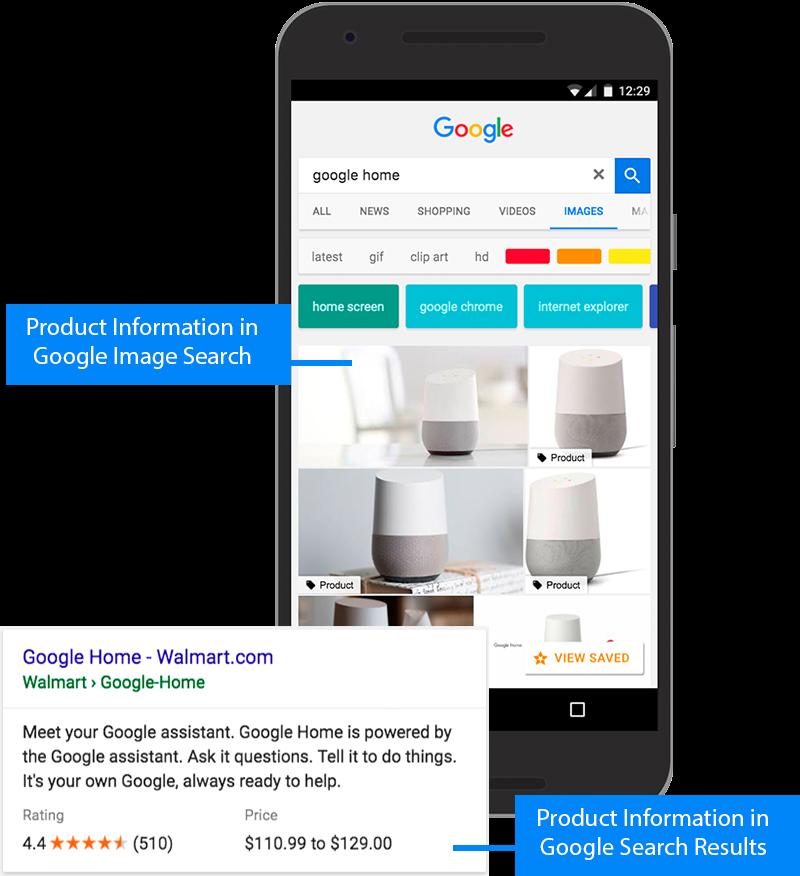 Пример раброты разметки в Google